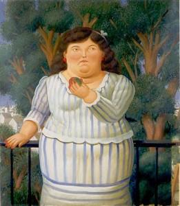 Fernando Botero, En el balcon, 2001
