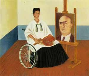 Frida Kahlo, Autoritratto con ritratto del Dr. Farill, 1951
