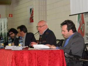 Da destra, Alberto Fontana, Innocentino Chiandetti, Carlo Giacobini e Pietro Barbieri
