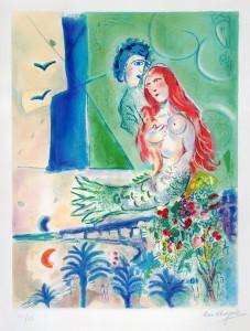 Marc Chagall, Sirena con poeta, 1967