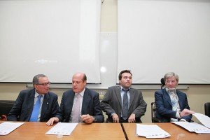 Da sinistra Francesco Tomasello, Massimo Russo, Alberto Fontana e Mario Melazzini