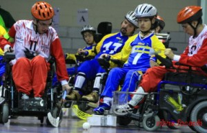 Wheelchair hockey