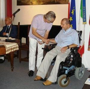 Riccardo Rutigliano riceve il secondo premio del Concorso Letterario Baveo-Pulliero