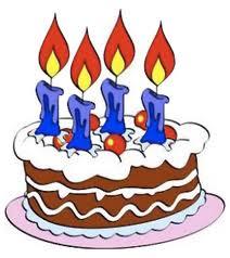 Disegno di torta con 4 candeline