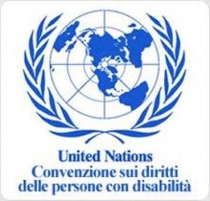 Logo ONU e Convenzione sui Diritti delle Persone con Disabilità