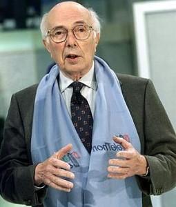 Il Professor Renato Dulbecco partecipa a Telethon 2001