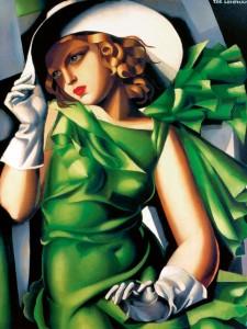 Tamara De Lempicka (1898-1980), Giovane fanciulla con i guanti (Jeune fille aux gants - 1930)