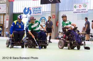 Una fase di gioco della Coppa Italia 2012