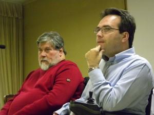 Il presidente nazionale uscente Alberto Fontana (destra) e il vicepresidente Enzo Marcheschi