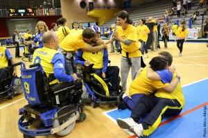 I Thunder Roma festeggiano la vittoria del Campionato 2012-2013 di A1