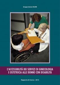 Copertina del rapporto di ricerca sull'accessibilità dei servizi sanitari alle donne disabili.