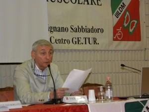Il presidente uscente della Commissione Medico-Scientifica UILDM, Paolo Banfi, alle Manifestazioni Nazionali UILDM 2013
