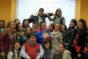 """Uno dei gruppi di studenti coinvolti nell'attività di formazione del progetto """"Territorio: conoscere per cambiarlo"""""""