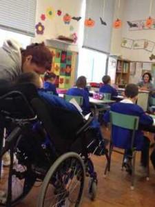 Sebastiano in classe!