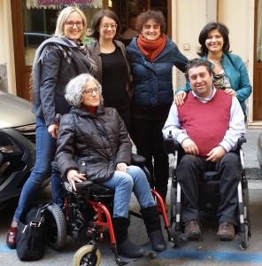 I formatori con il direttore UILDM Cira Solimene in occasione di un incontro preparatorio all'evento del 9 maggio ad Arzano