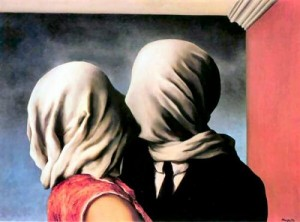 "René Magritte, ""Gli amanti (Les Amants)"", olio su tela, 1928, Richard S. Zeisler Collection, New York."