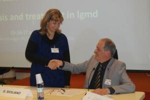 Il presidente della UILDM Luigi Querini con la presidente del GFB Beatrice Vola