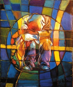 Dina Pala, Il tempo, olio su tela, 1995.