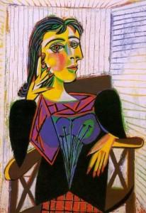 Pablo Picasso, Ritratto di Dora Maar, olio su tela, 1937, Musée National Picasso, Parigi.