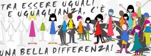 """""""Tra essere uguali e uguaglianza, c'è una bella differenza"""" è una vignetta realizzata da Anarkikka (Stefania Spanò) per la mostra """"Educare alle differenze"""", esposta a Roma nel settembre 2014."""