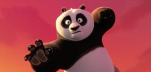 Il panda Po si allena per diventare il guerriero Dragone.