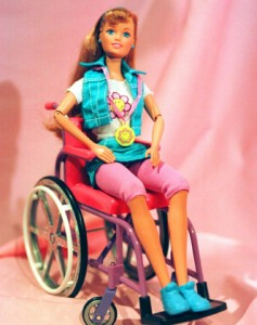 Becky, la bambola in sedia a rotelle realizzata dalla Mattel nel 1997.