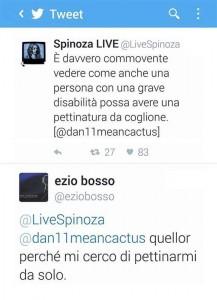 Lo scambio di Tweet tra Spinoza ed Ezio Bosso.