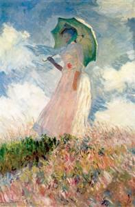 Claude Monet, Donna con il parasole girata verso sinistra, 1886, Musée d'Orsay, Parigi.