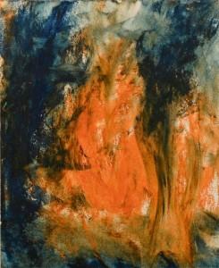 """""""Fuoco"""" dipinto da Sara Vergano. """"Focosa come la donna, che, nello stesso tempo, deve essere anche illuminata."""""""
