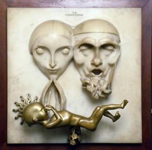 Adolfo Wildt, La concezione, 1921.