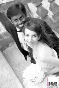 Virna Domenici con suo marito, Thomas Candeago, nel giorno del loro matrimonio.