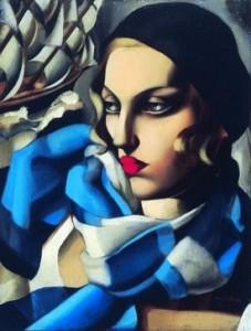 Tamara de Lempicka, La sciarpa blu, olio su tela, 1930.