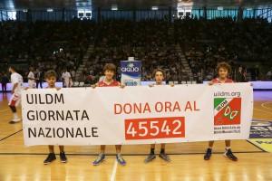 Prima della partita tra Grissin Bon Reggio Emilia e Openjobmetis Varese