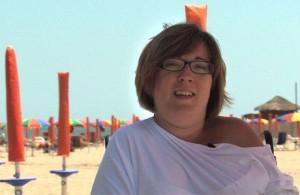 Una bella immagine di Valentina Boscolo al mare.
